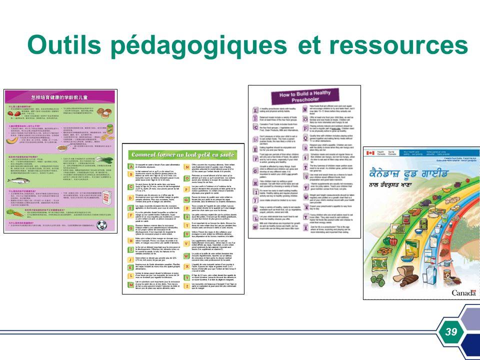 39 Outils pédagogiques et ressources
