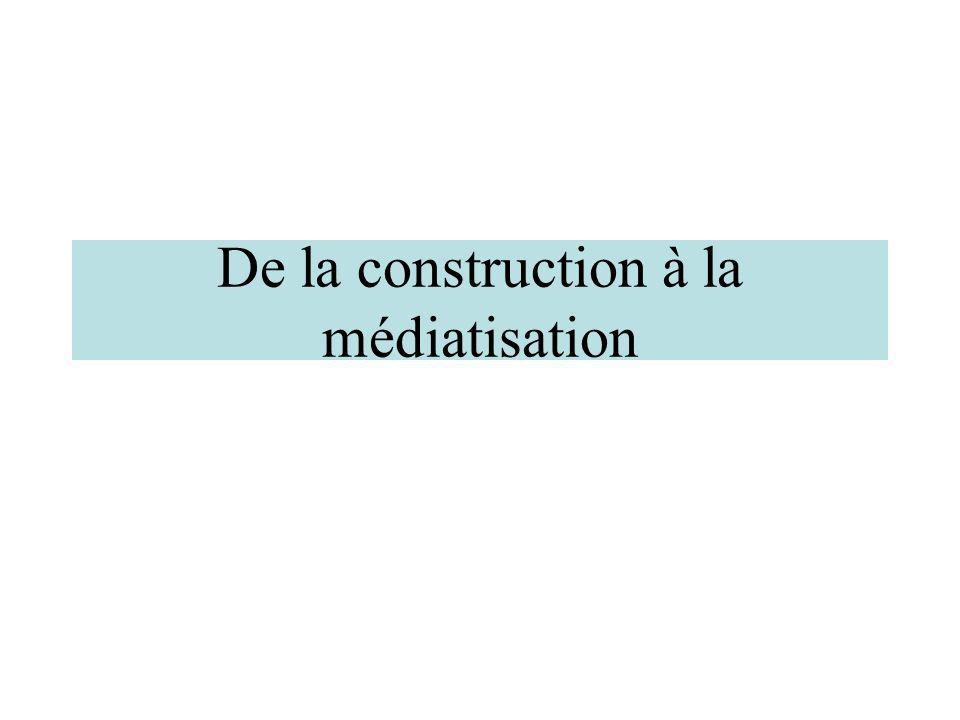 De la construction à la médiatisation