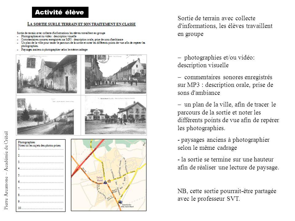 activité élève Pierre Arcamone – Académie de Créteil