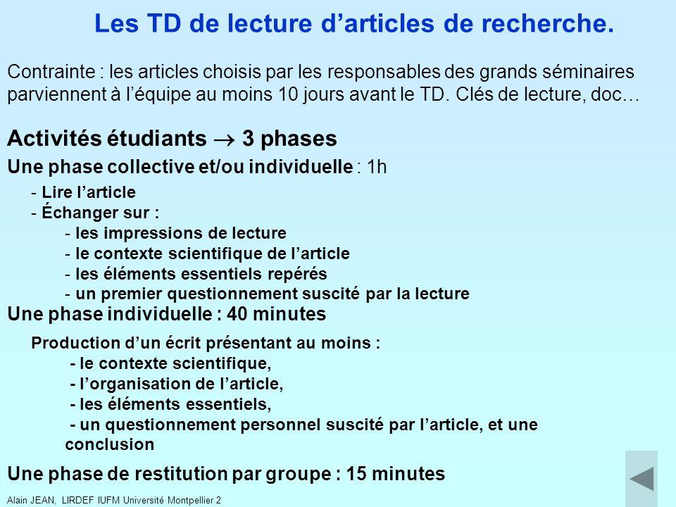 Activités étudiants 3 phases Une phase collective et/ou individuelle : 1h - Lire larticle - Échanger sur : - les impressions de lecture - le contexte