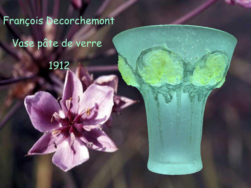 François Decorchemont Vase pâte de verre 1912
