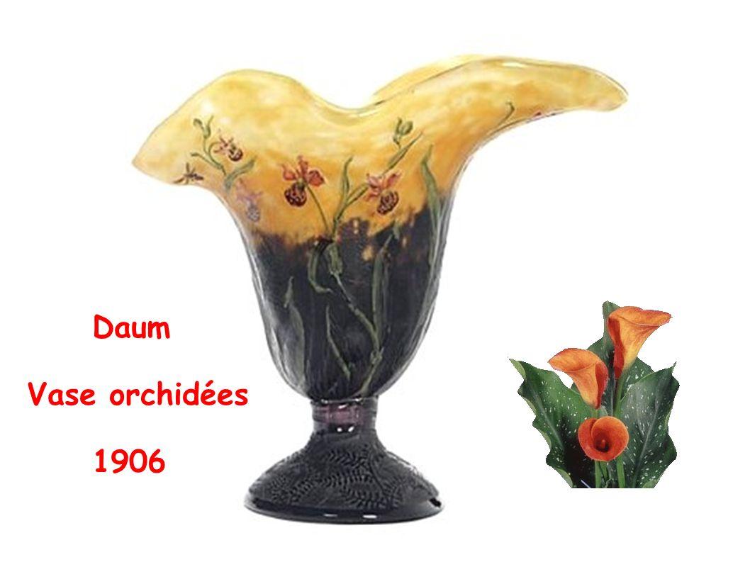 Daum Vase orchidées 1906
