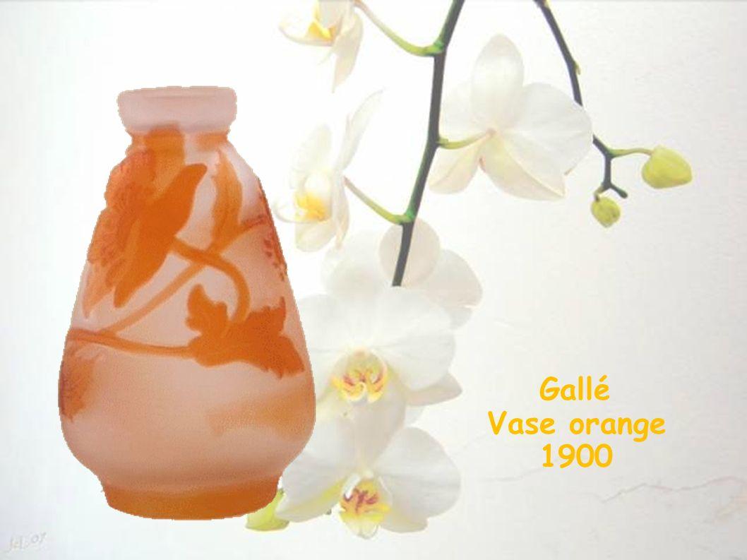 Gallé Vase orange 1900