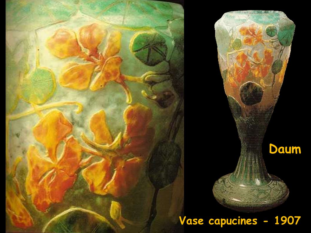 Daum vase Vase capucines - 1907