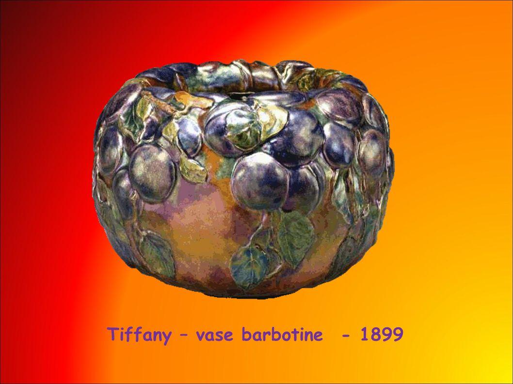 Tiffany – vase barbotine - 1899