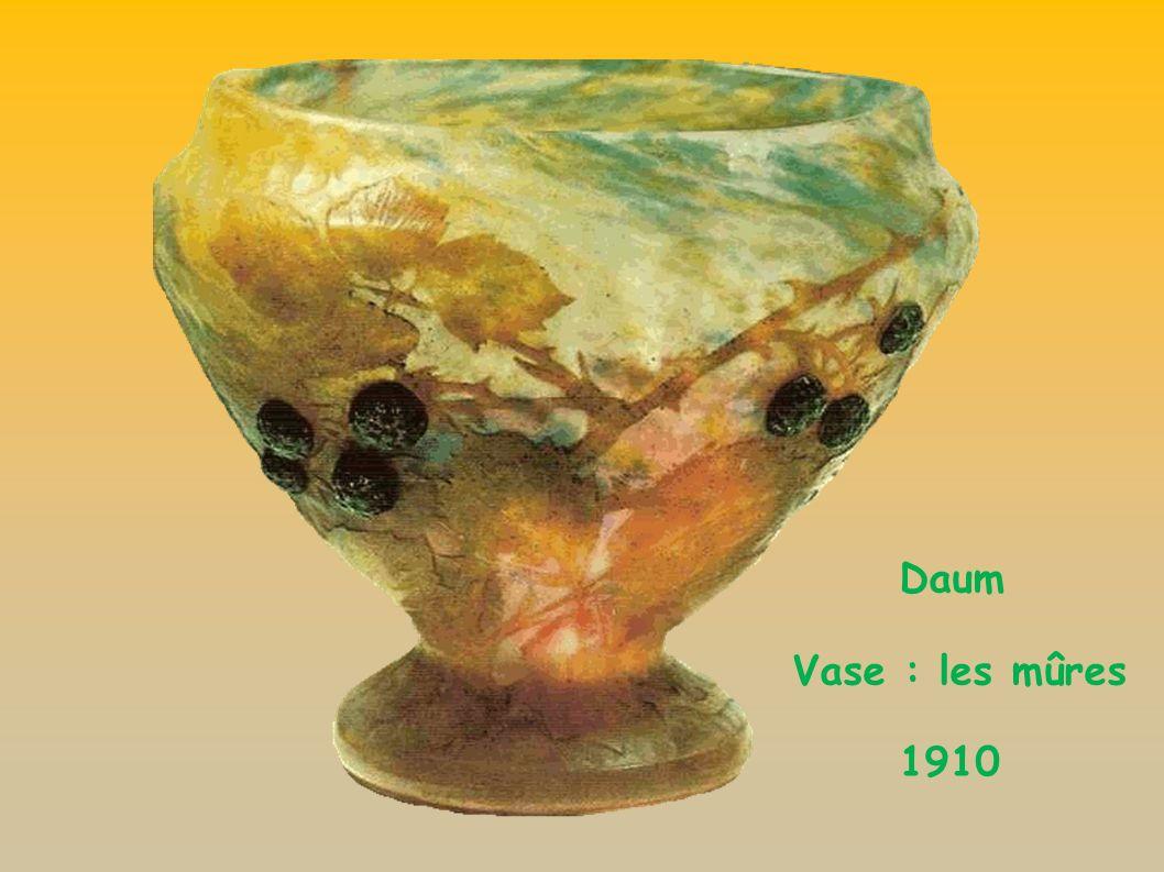 Daum Vase : les mûres 1910
