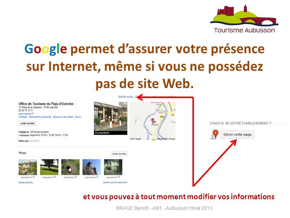 est létape n°1 dun bon référencement et dune bonne présence sur internet Cest Simple, Incontournable et BRAGE Benoît - ANT - Aubusson Hiver 2013