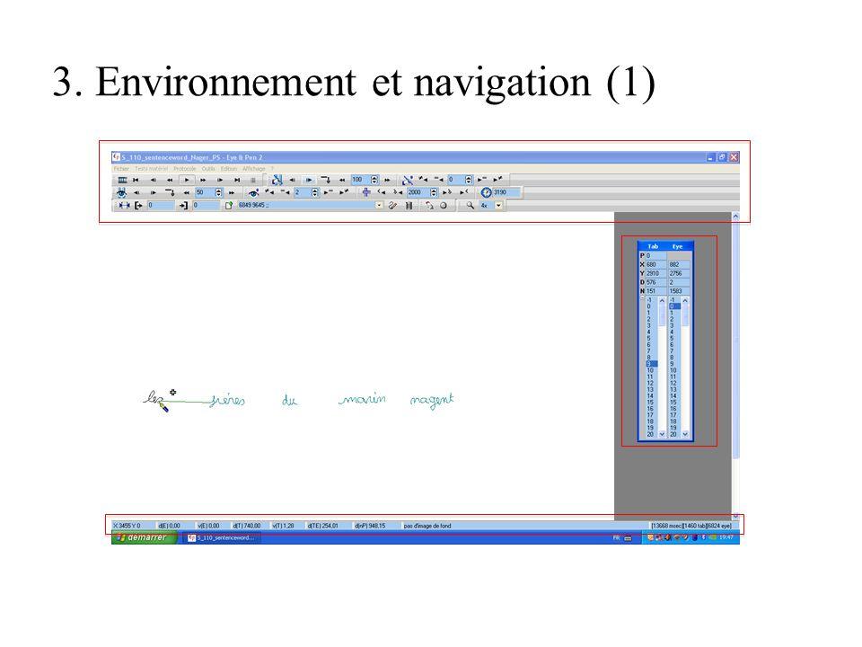 3. Environnement et navigation (1)