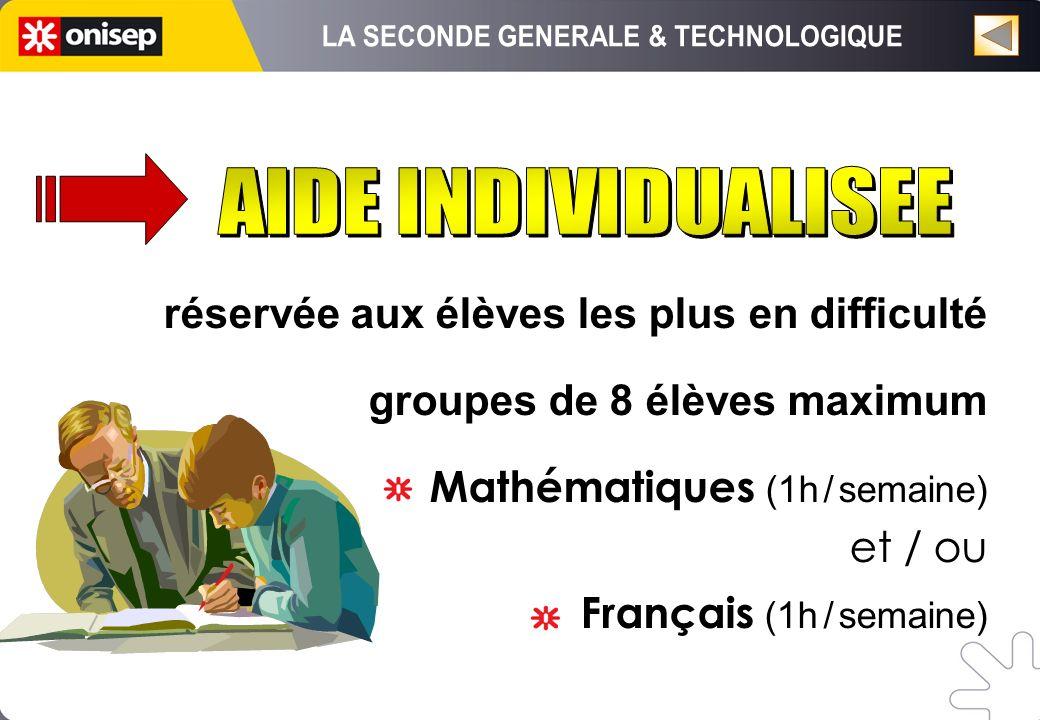 réservée aux élèves les plus en difficulté groupes de 8 élèves maximum Mathématiques (1h / semaine) et / ou Français (1h / semaine)