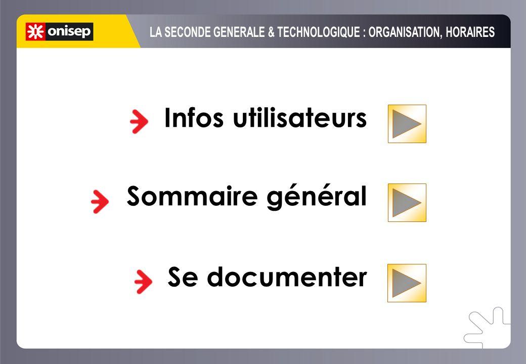 Infos utilisateurs Sommaire général Se documenter