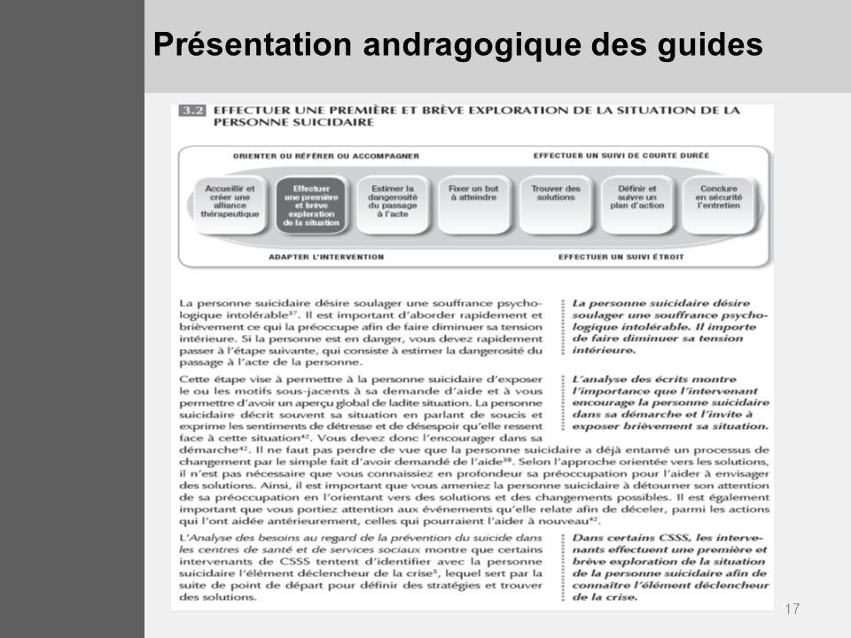 17 Présentation andragogique des guides