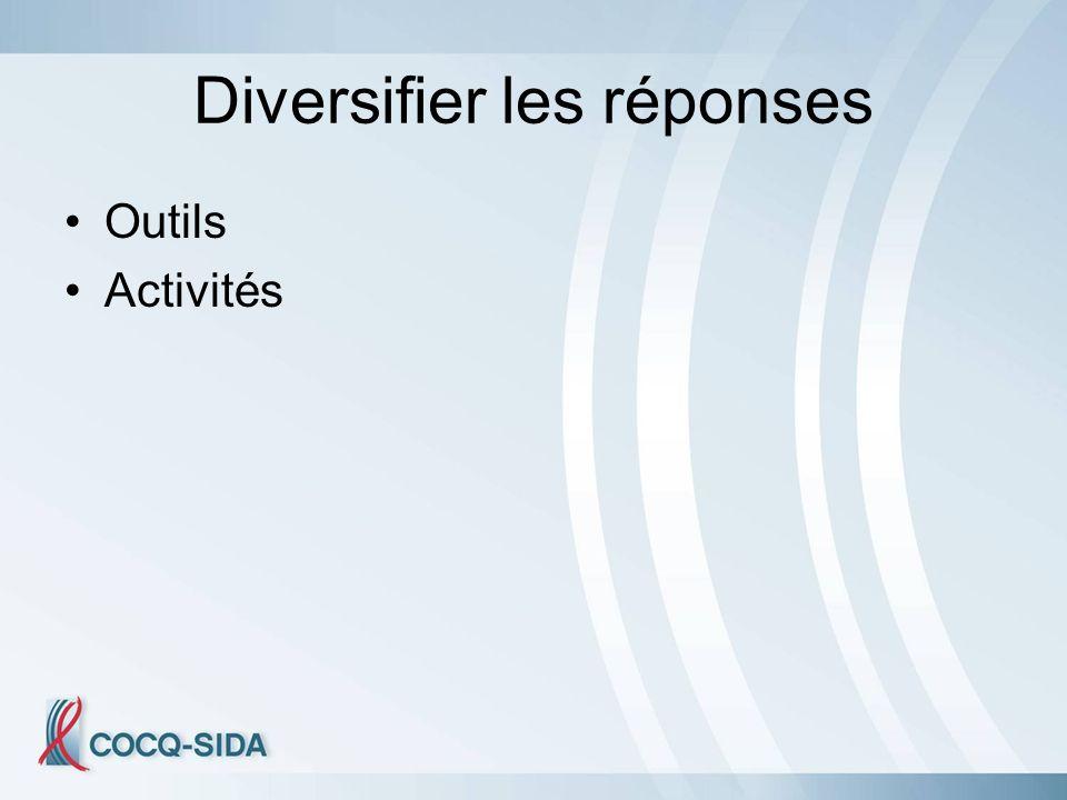 Diversifier les réponses Outils Activités