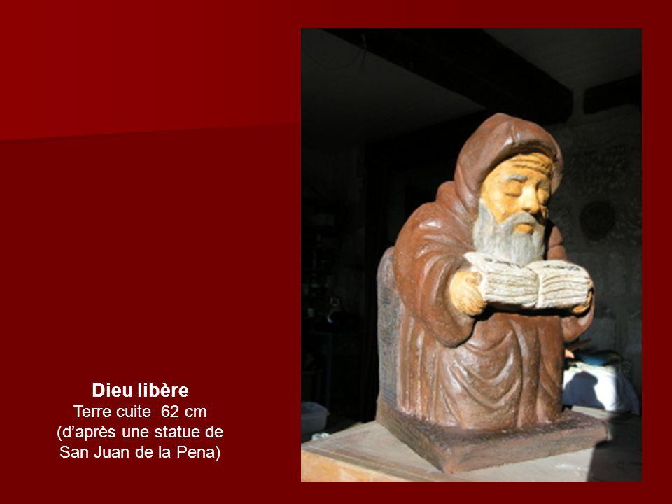 Dieu libère Terre cuite 62 cm (daprès une statue de San Juan de la Pena)