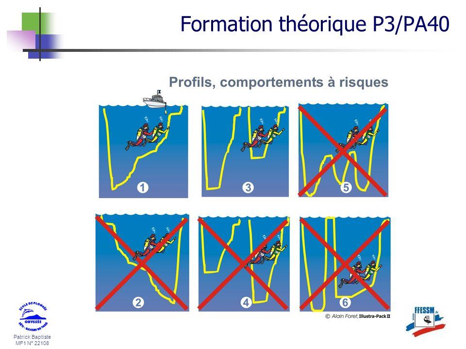 Patrick Baptiste MF1 N° 22108 Formation théorique P3/PA40