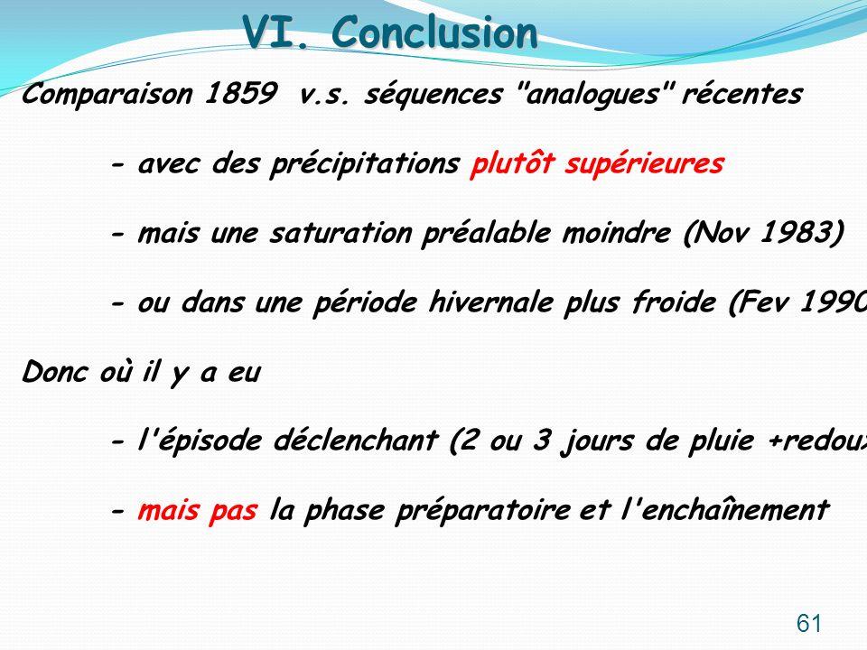 VI. Conclusion Comparaison 1859 v.s. séquences