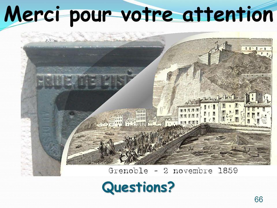 Questions? Merci pour votre attention 66