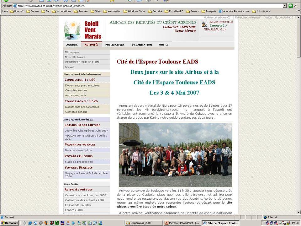 29.01.2008 Créer son site web - Club Informatique Saintongeais 43