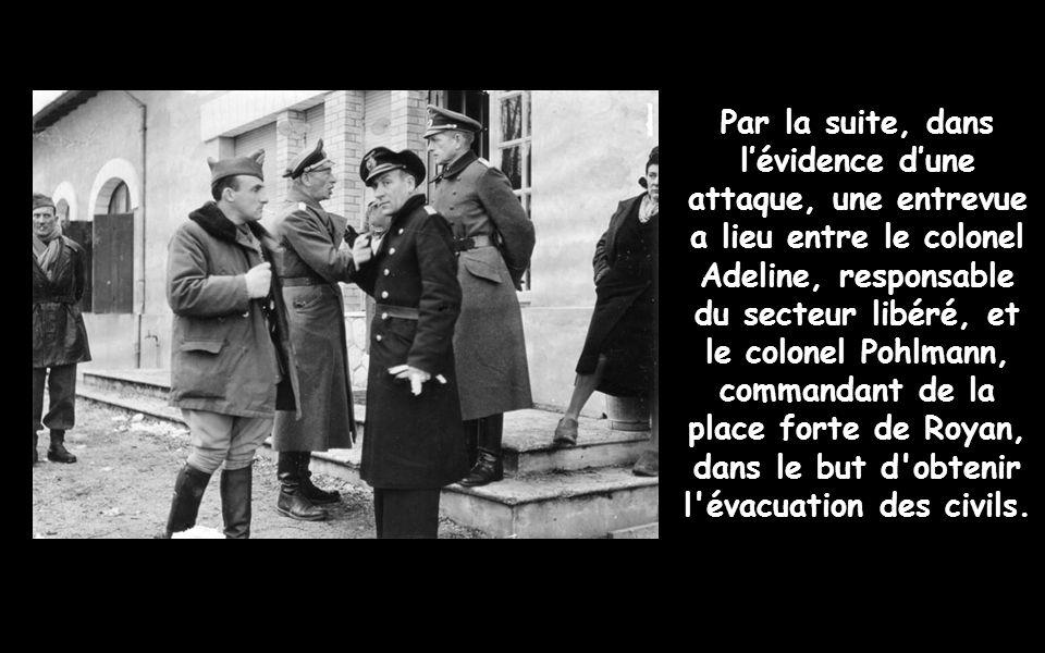 Après la chute de Rochefort en septembre 1944, 9 000 allemands sont répartis dans un ensemble quon appelle de la « Poche de Royan ». Ci-joint le plan