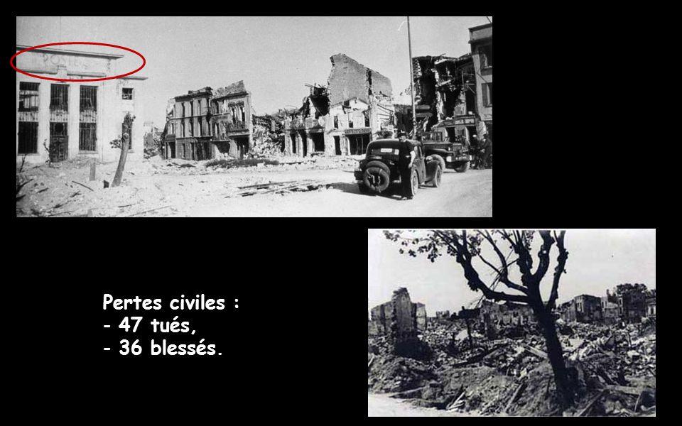 200 chars, une partie de la division Leclerc, et 2 bataillons du génie viennent en renforts des résistants.
