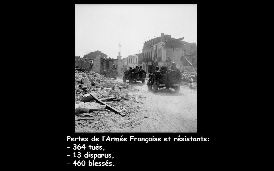 Pertes civiles : - 47 tués, - 36 blessés.