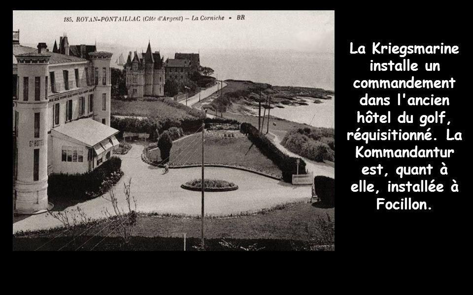 En effet, après larmistice du 22 juin 1940, Royan se trouve en zone occupée. Le premier détachement allemand, de la 44e division de la Wehrmacht, pénè