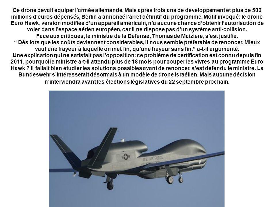 Ce drone devait équiper larmée allemande.