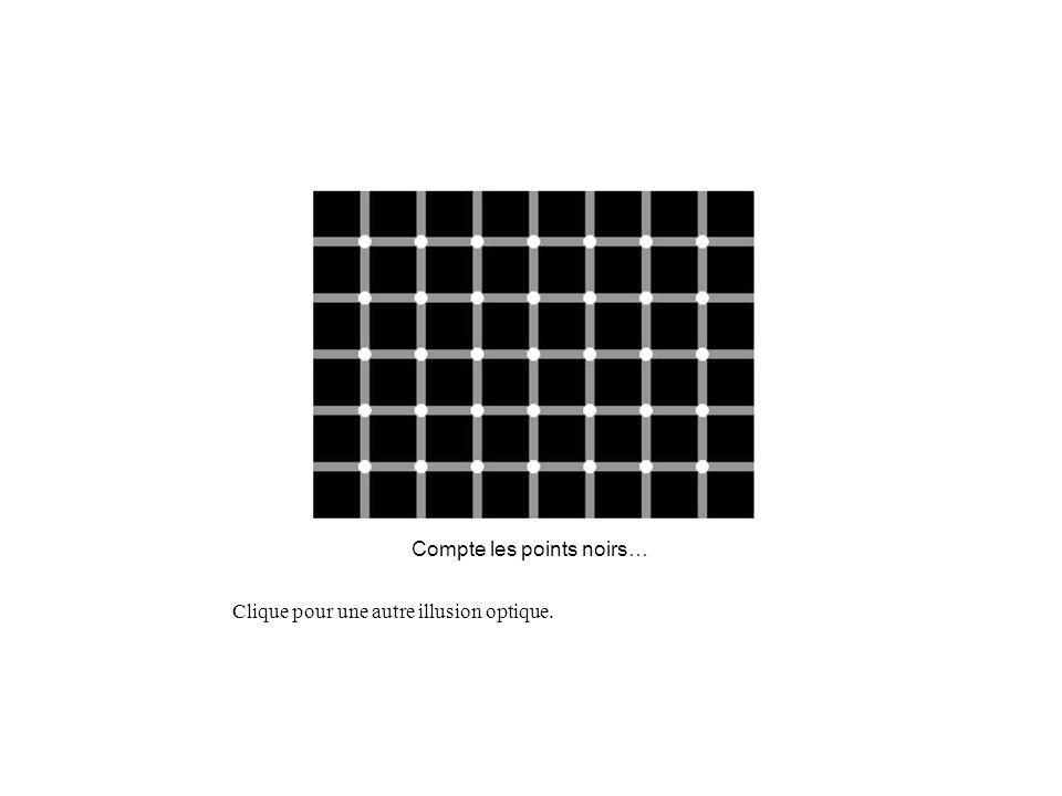 Compte les points noirs… Clique pour une autre illusion optique.