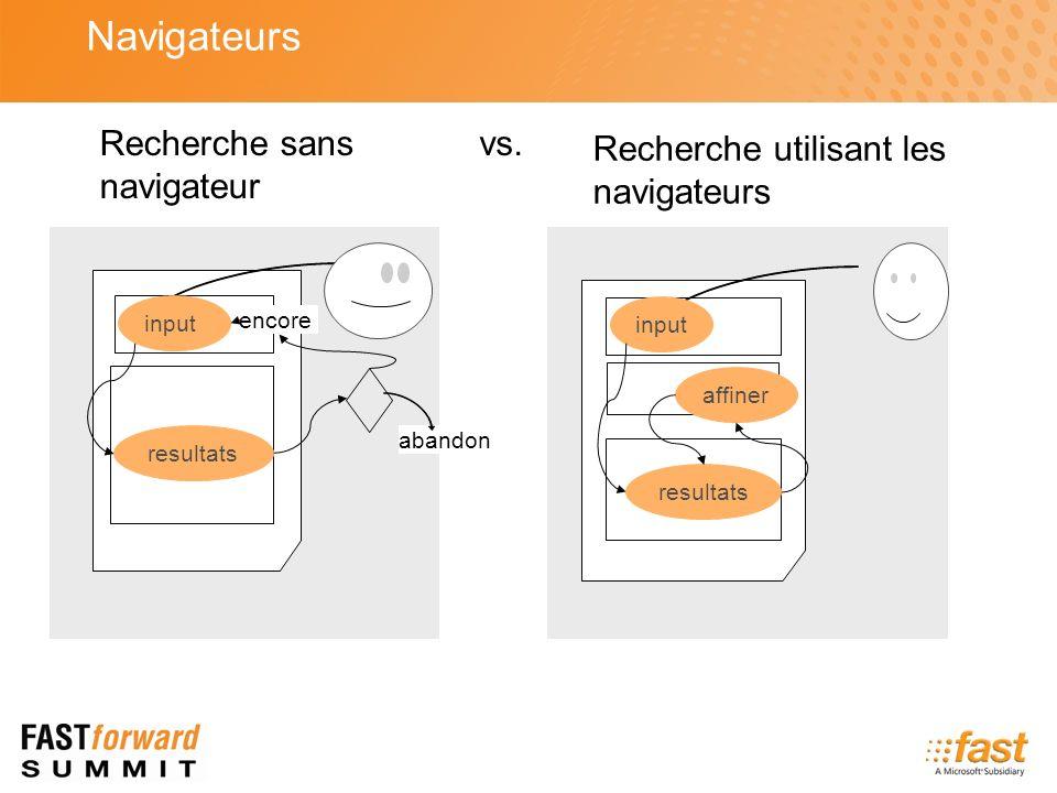 input resultats affiner Recherche utilisant les navigateurs input resultats abandon encore Recherche sans navigateur vs. Navigateurs