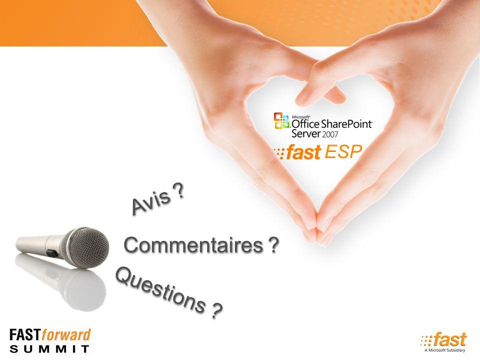 ESP Questions Commentaires Avis