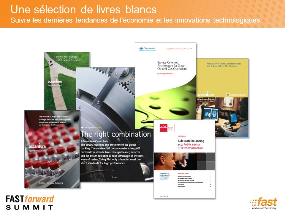 Une sélection de livres blancs Suivre les dernières tendances de léconomie et les innovations technologiques