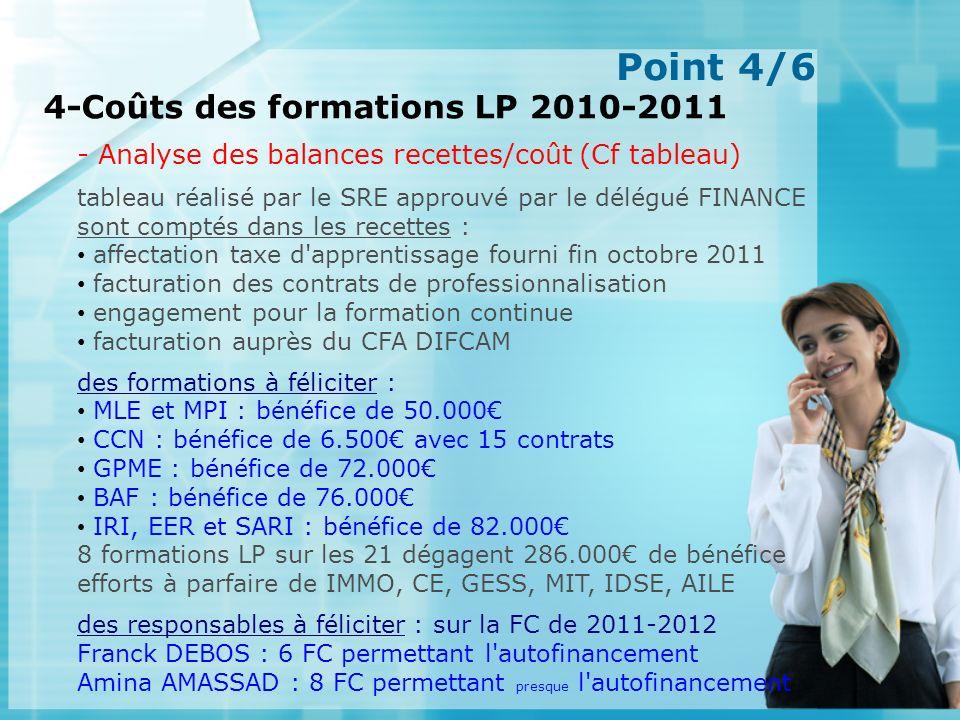 Point 5/6 5-Cartographie de l offre de formation LP UNS