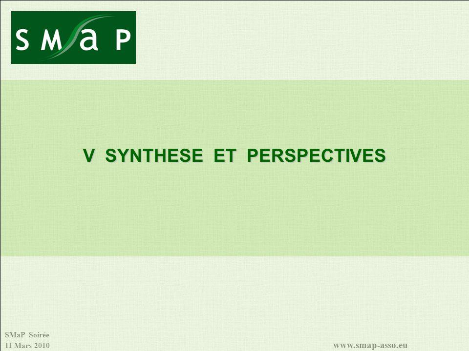 SMaP Soirée 11 Mars 2010 www.smap-asso.eu V SYNTHESE ET PERSPECTIVES