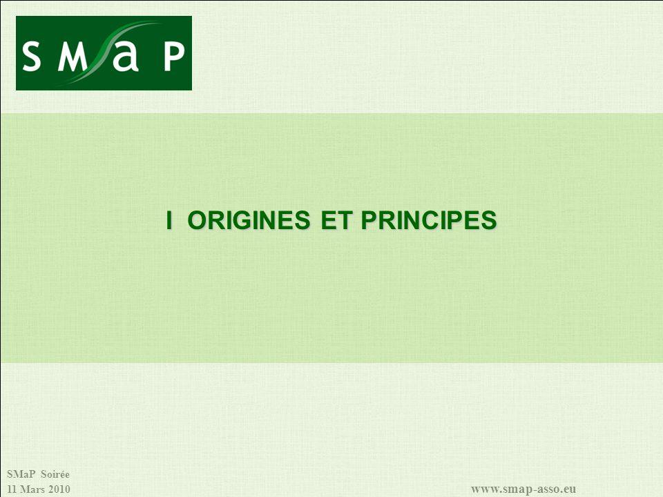 SMaP Soirée 11 Mars 2010 www.smap-asso.eu I ORIGINES ET PRINCIPES