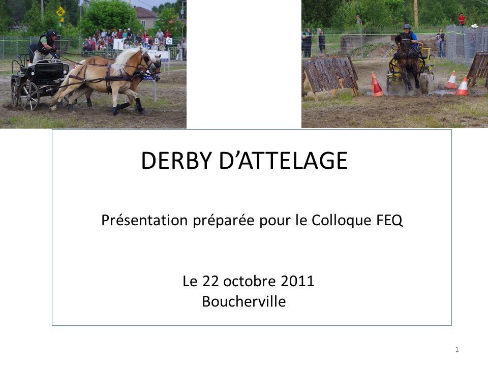 1 DERBY DATTELAGE Présentation préparée pour le Colloque FEQ Le 22 octobre 2011 Boucherville