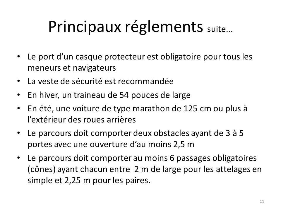 11 Principaux réglements suite...