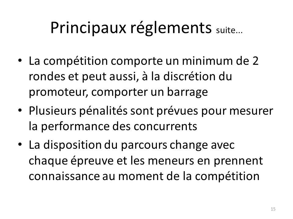 15 Principaux réglements suite...