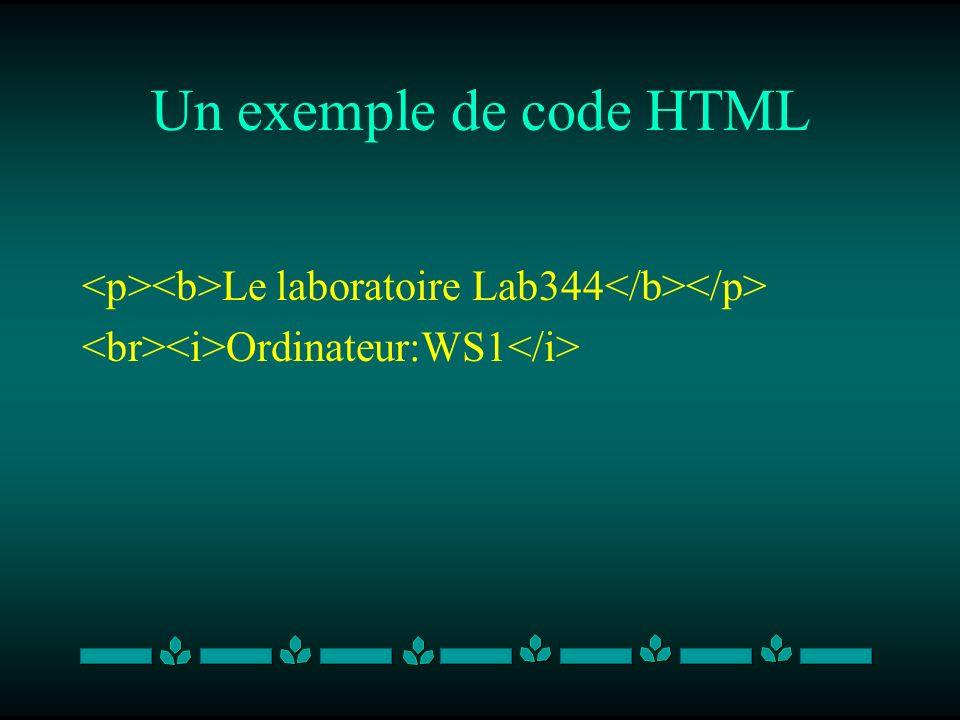 Quel est le problème dHTML.Met plus daccent sur la présentation que sur le contenu.