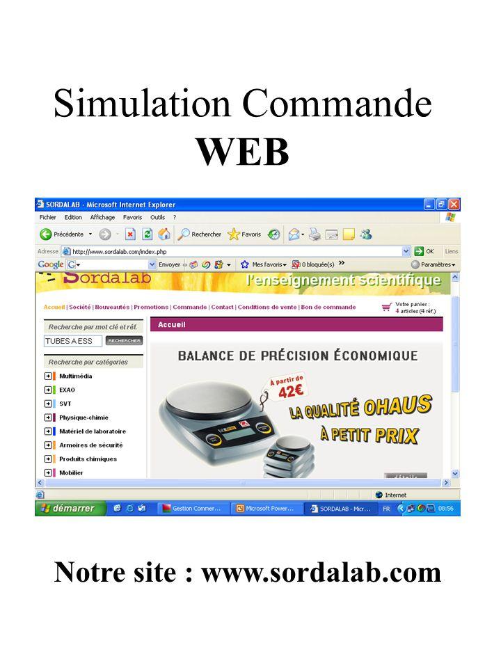 Simulation Commande WEB Notre site : www.sordalab.com