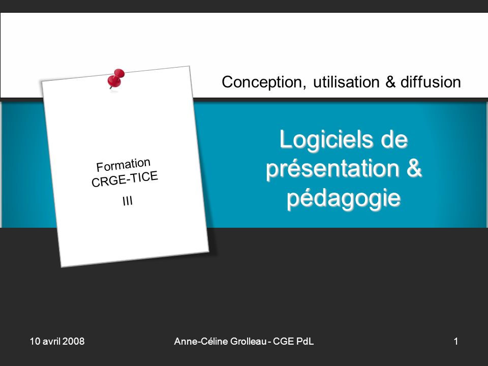 10 avril 2008Anne-Céline Grolleau - CGE PdL2 PowerPoint Intro ? … !