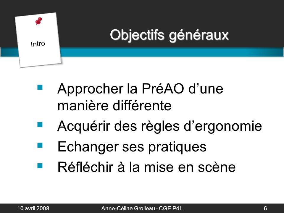 10 avril 2008Anne-Céline Grolleau - CGE PdL7 Sommaire 1.