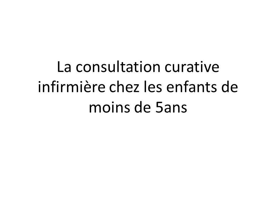 La consultation curative infirmière chez les enfants de moins de 5ans
