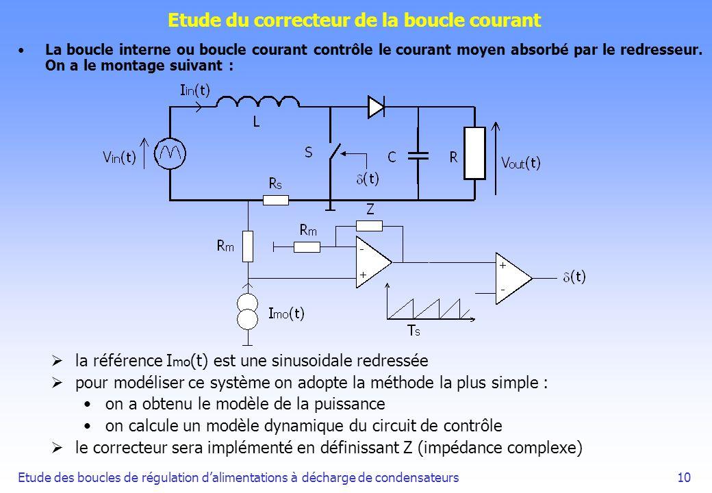 Etude des boucles de régulation dalimentations à décharge de condensateurs10 Etude du correcteur de la boucle courant La boucle interne ou boucle cour