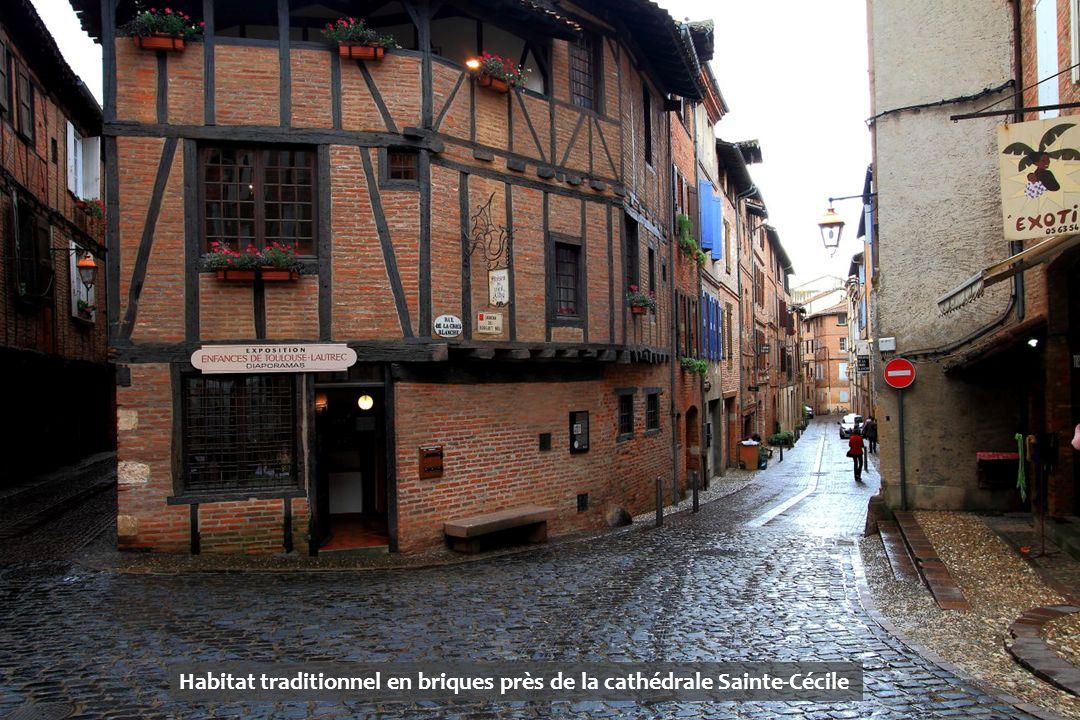 Habitat traditionnel en briques près de la cathédrale Sainte-Cécile