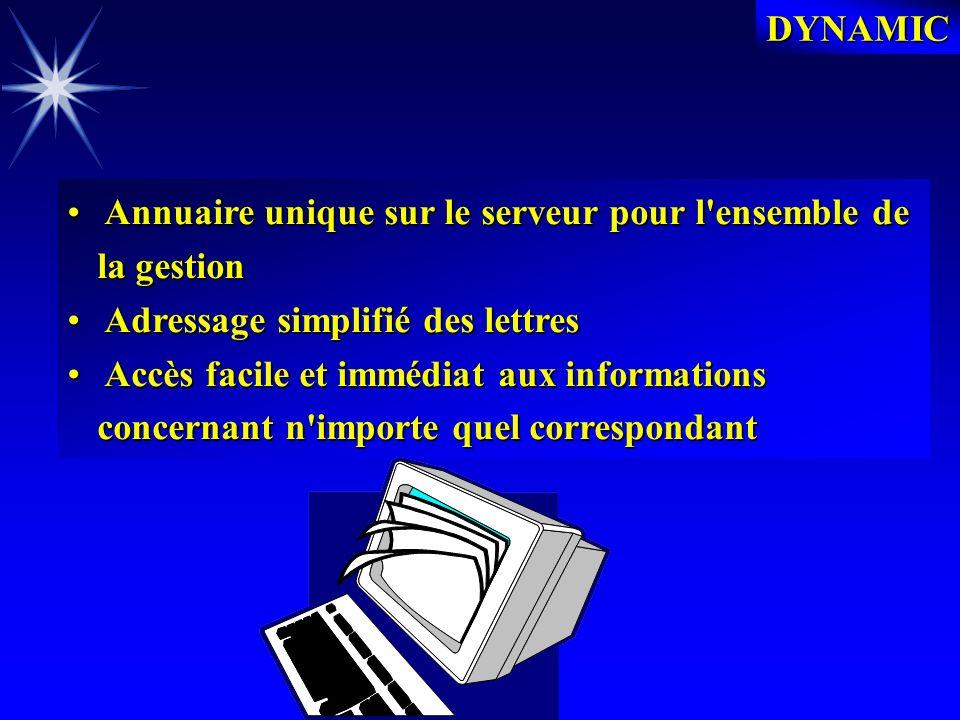 DYNAMIC DYNAMIC SIMPLIFIE AUSSI CONSIDERABLEMENT LE RESPECT DES CONTRAINTES DES NORMES ISO 9000
