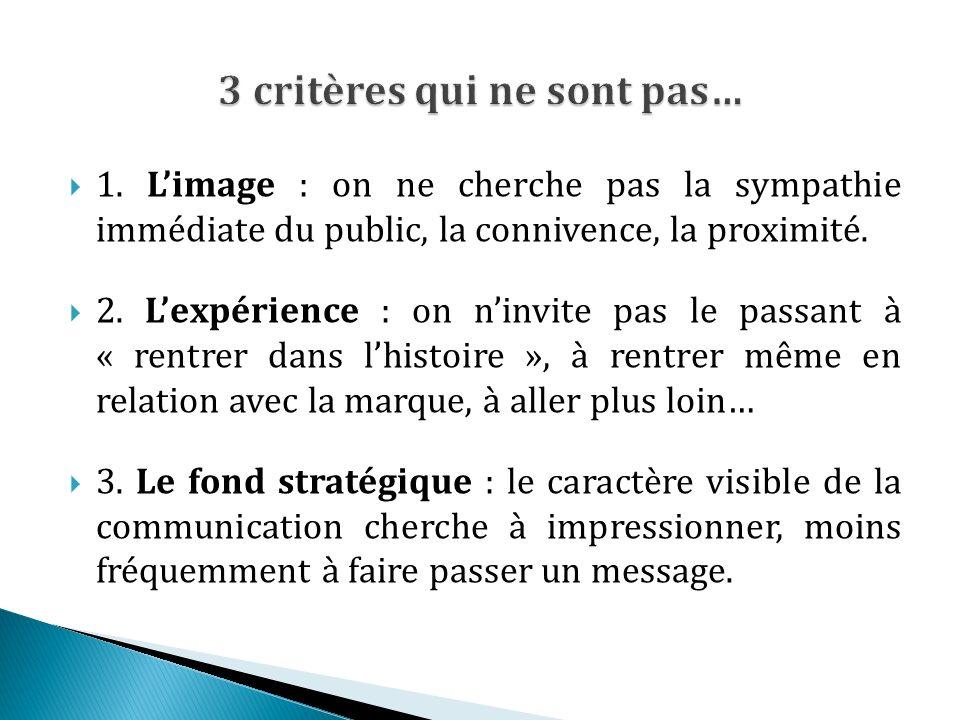 1. Limage : on ne cherche pas la sympathie immédiate du public, la connivence, la proximité.