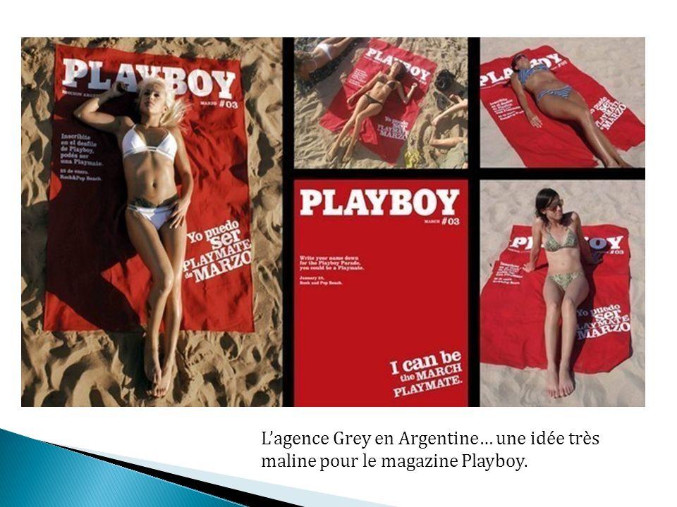Lagence Grey en Argentine… une idée très maline pour le magazine Playboy.