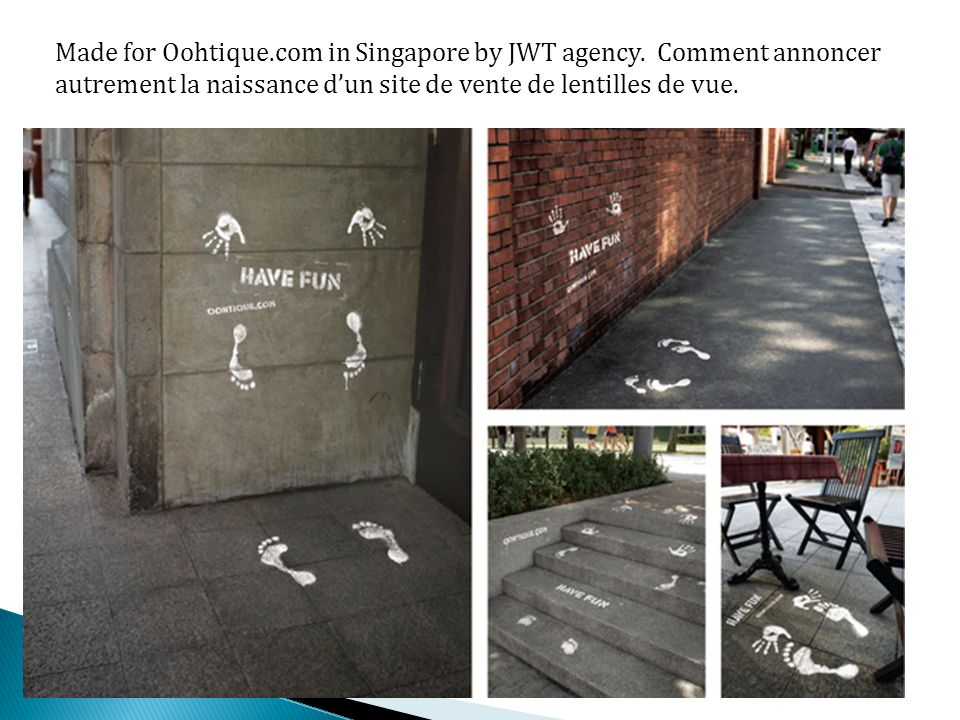 Made for Oohtique.com in Singapore by JWT agency.