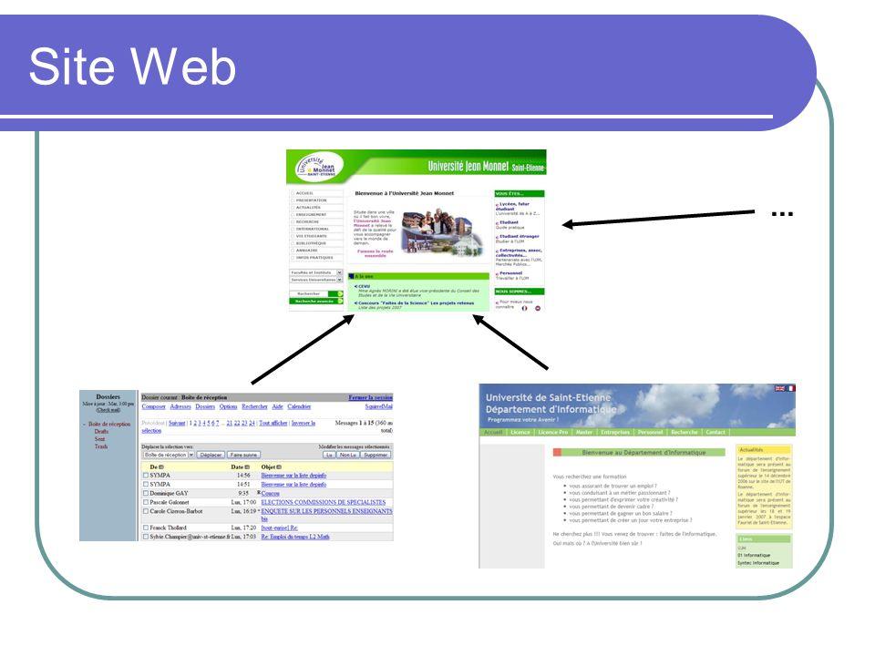 Les scripts Petits programmes qui servent à contrôler les données saisies dans des formulaires HTML, ou à interagir avec le document HTML Langage plus commun : JavaScript Le code JavaScript peut être intégré directement au sein des pages Web Il est exécuté sur le poste client Le navigateur Web prend en charge l exécution des scripts Permettent d avoir des pages web dynamiques