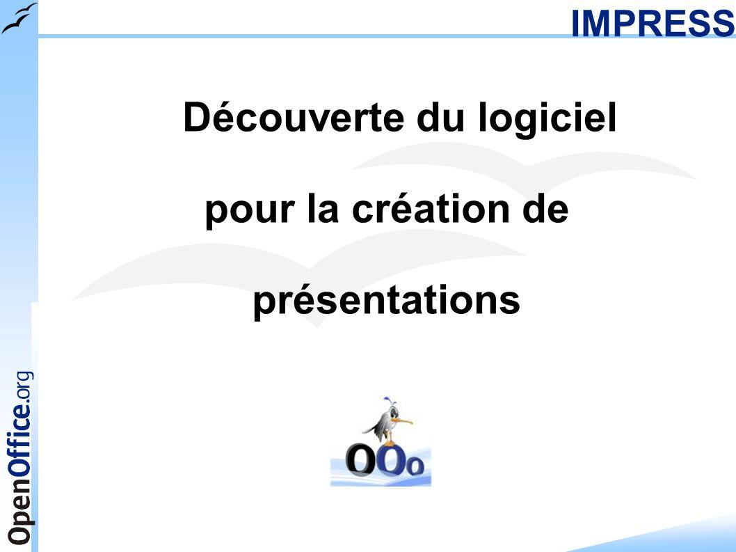 IMPRESS Découverte du logiciel pour la création de présentations