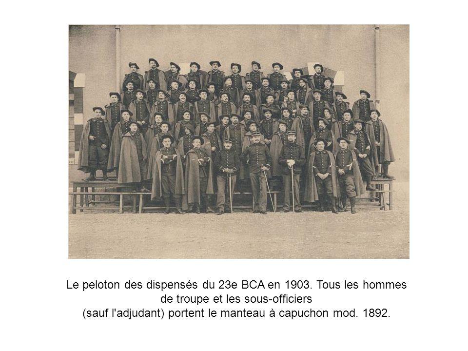 La vareuse-dolman : introduite le 28 janvier 1891.